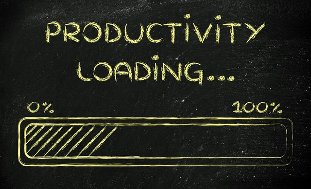 progress bar, funny design with concept of productivity loading