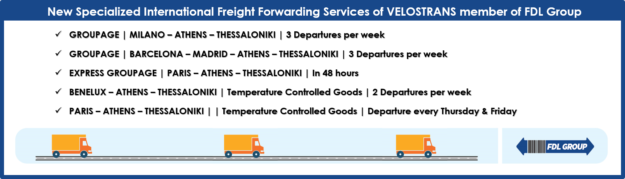 New Specialized International Freight Forwarding Services of FDL Group