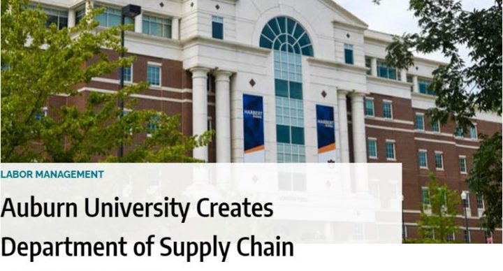 Auburn University Creates Department of Supply Chain Management
